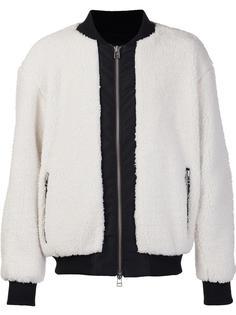 fur effect bomber jacket Daniel Patrick