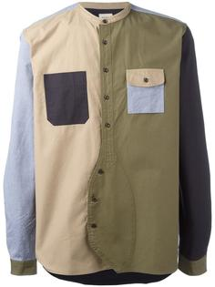 лоскутная рубашка Wooster + Lardini
