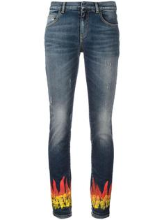 узкие джинсы с отделкой в виде пламени Faith Connexion