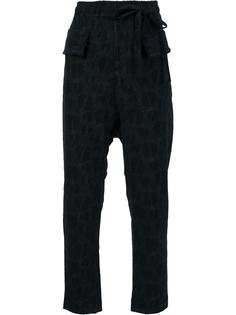 elasticated waistband slim-fit trousers Damir Doma