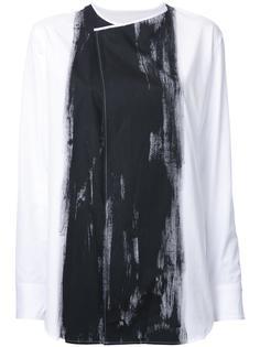 блузка с контрастной отделкой Yohji Yamamoto