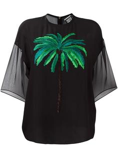 palm-tree embroidered top Fausto Puglisi