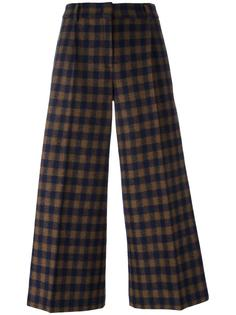 checked cropped trousers  Odeeh
