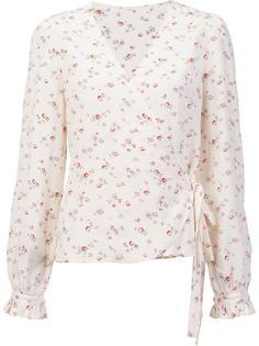 floral print wrap blouse Ines De La Fressange