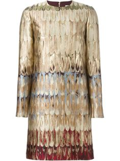 платье шифт с вышивкой Valentino