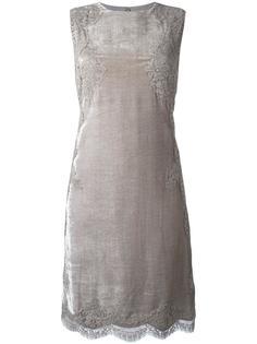 платье с кружевной отделкой Alberta Ferretti