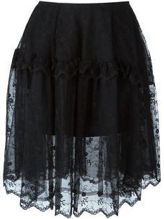 юбка с цветочной вышивкой Simone Rocha
