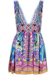мини-платье с рисунком и блестящей отделкой Camilla