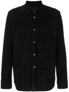 кожаная рубашка Comme Des Garçons Homme Plus