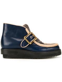 ботинки с контрастной окантовкой и пряжкой Maison Mihara Yasuhiro