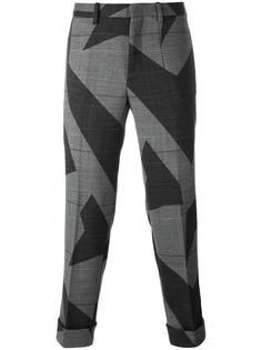 cut-up lightning bolt trousers Neil Barrett