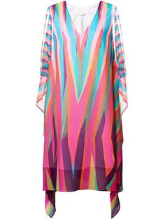 loose fit chevron dress Tsumori Chisato