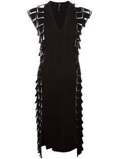 платье длины миди с объемным декором Zero + Maria Cornejo