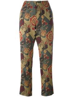 брюки с цветочным принтом Uma Wang