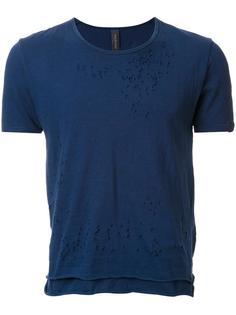многослойная футболка с потертой отделкой Miharayasuhiro