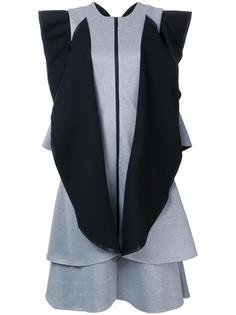 платье с контрастными оборками Robert Wun