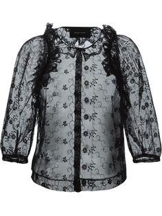 прозрачная кружевная блузка  Simone Rocha