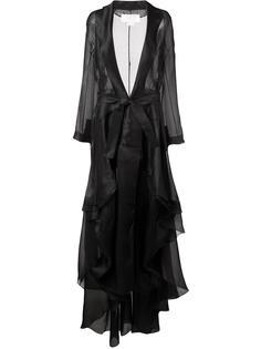 long belted oversize coat Antonio Berardi