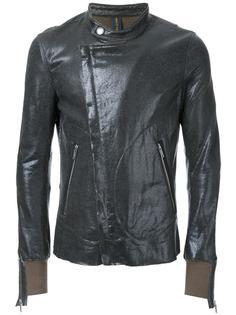 эластичная куртка с вощеным покрытием на молнии  Miharayasuhiro