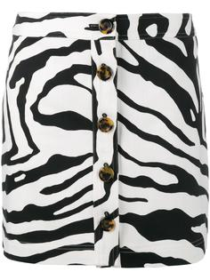 zebra print mini skirt Adam Lippes