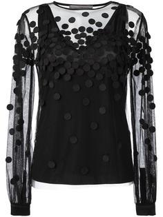 прозрачная блузка с аппликацией Sportmax