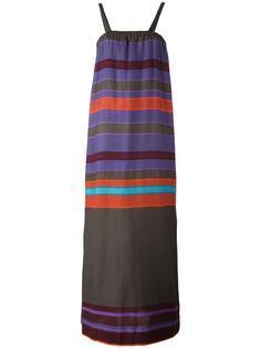 длинное полосатое платье Lemlem