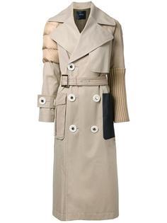 пальто с поясом и фактурной отделкой Undercover