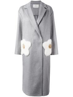 пальто с принтом жареных яиц Anya Hindmarch