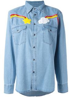 джинсовая рубашка с вышивкой Forte Couture