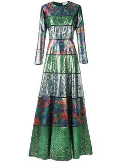 длинное платье с полосатым принтом Maison Rabih Kayrouz