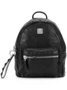 рюкзак с бляшкой с логотипом MCM