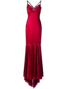 вечернее платье с кружевной отделкой Dolce & Gabbana