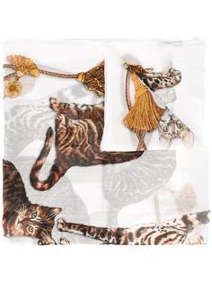 шарф с рисунком 'Bengal Cat' Dolce & Gabbana