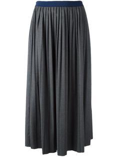плиссированная юбка миди Semicouture