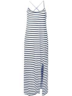 полосатое платье с перекрещивающимися лямками Bassike