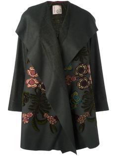 пальто с цветочной аппликацией Antonio Marras