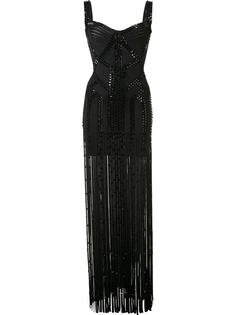 embellished semi sheer dress Hervé Léger