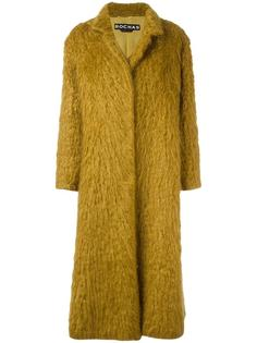 длинное фактурное пальто Rochas