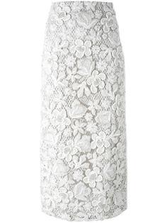 декорированная юбка-карандаш с цветочным узором Maticevski