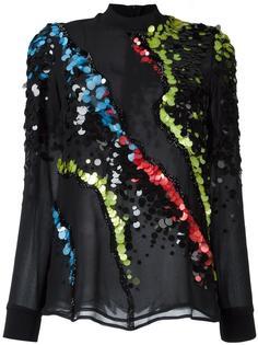 блузка с пайетками 'Jagged Broque' Versace