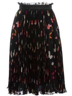 юбка с принтом Obsession Alexander McQueen