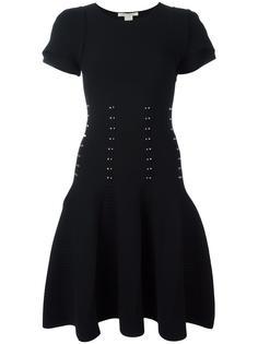 платье с короткими рукавами и заклепками Antonio Berardi