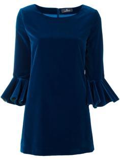 платье с расклешенными рукавами Capucci