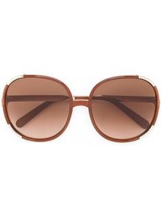 крупные солнцезащитные очки в квадратной оправе Chloé