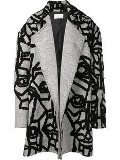 'Imago' macro coat Strateas Carlucci