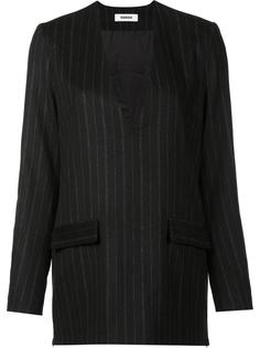 pinstripe jacket dress top Marios