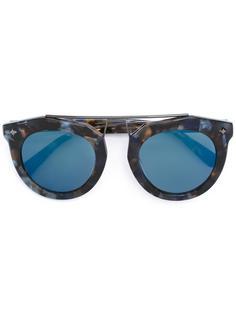 солнцезащитные очки-авиаторы в черепаховой оправе MCM