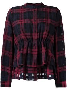 клетчатая рубашка с баской Jil Sander Navy