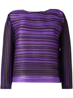 плиссированная блузка в полоску Pleats Please By Issey Miyake