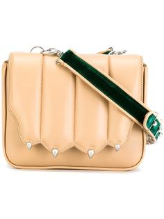 flap closure crossbody bag Marco De Vincenzo